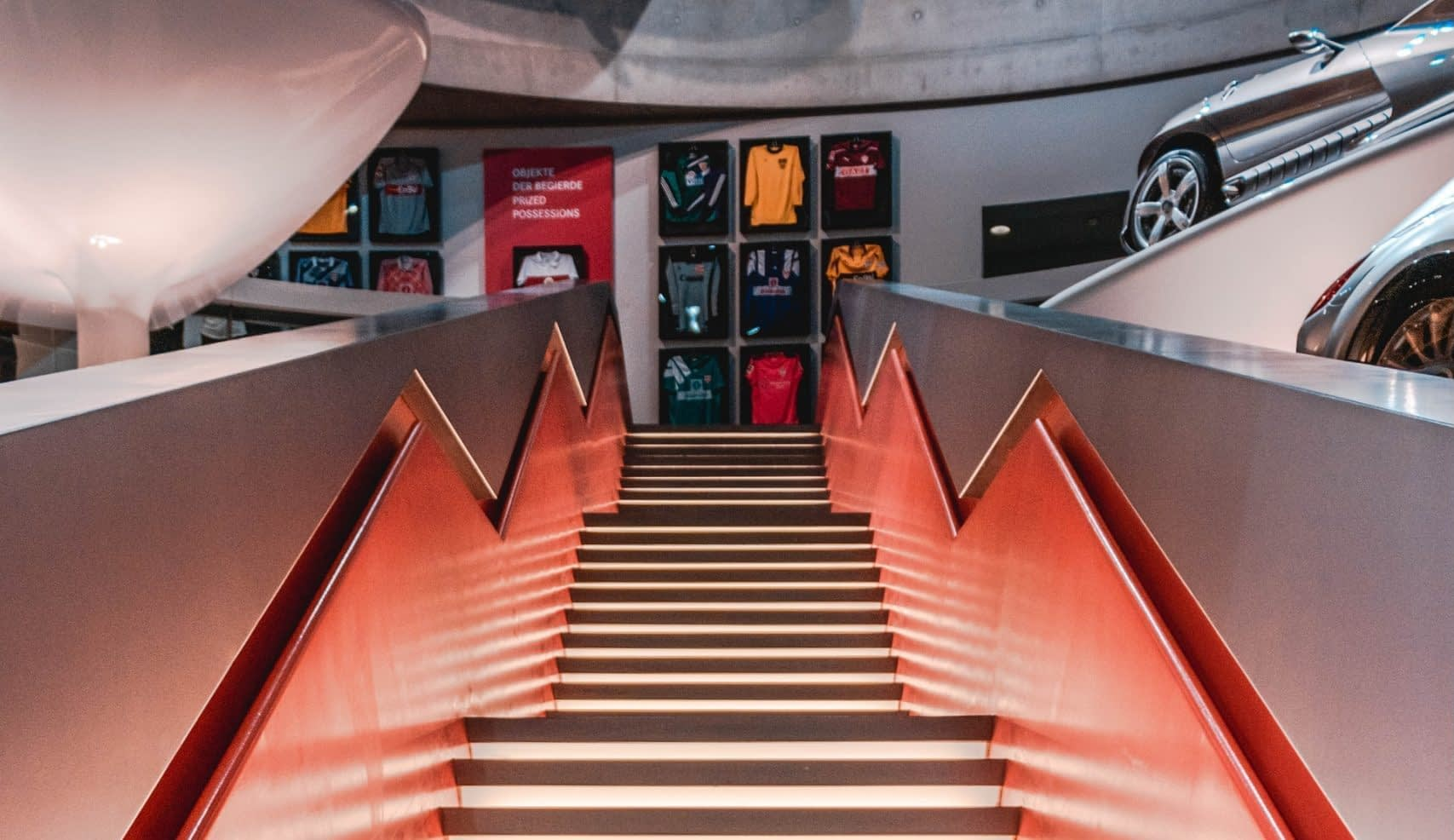 A tour at the Mercedes-Benz museum