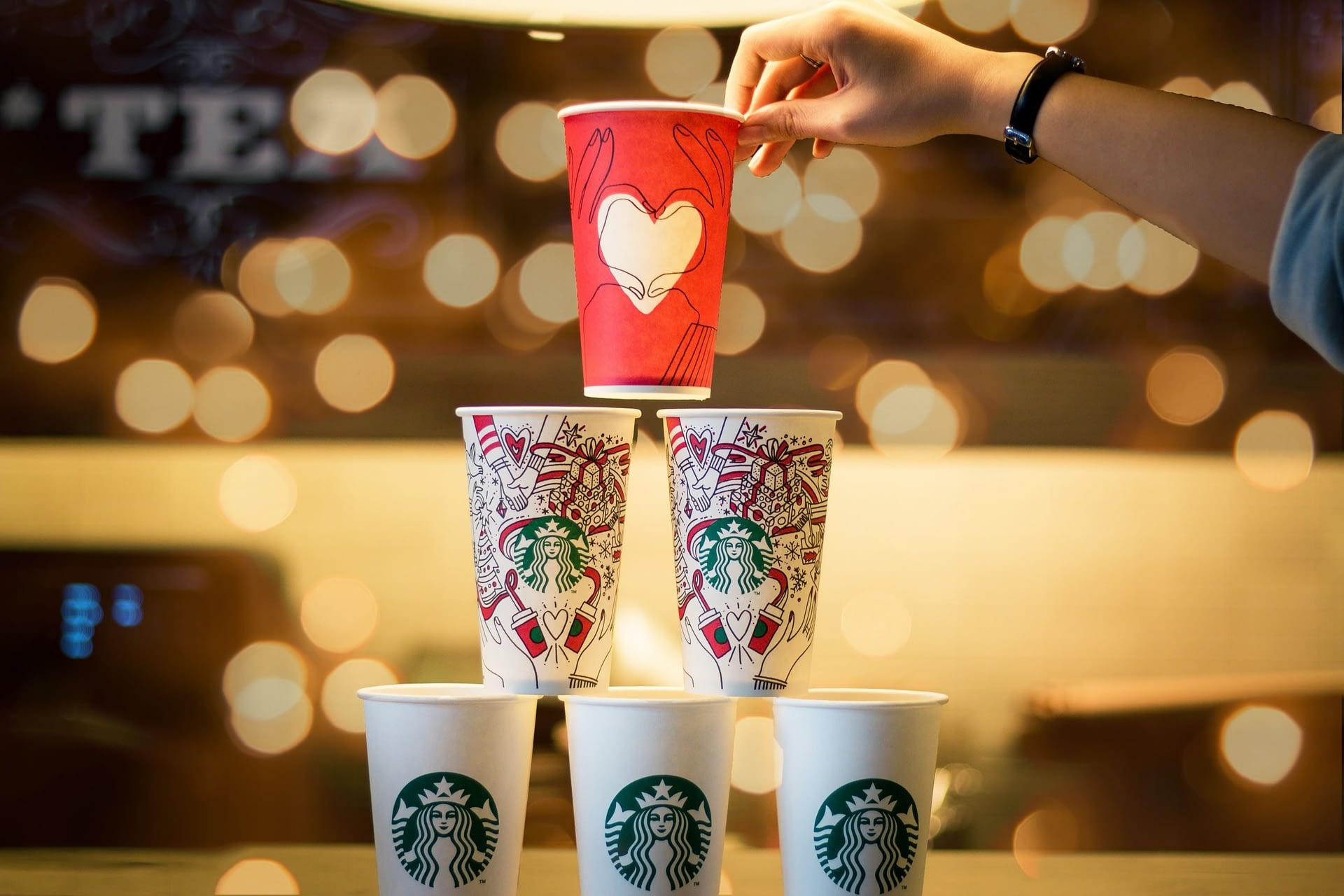 The Starbucks cups
