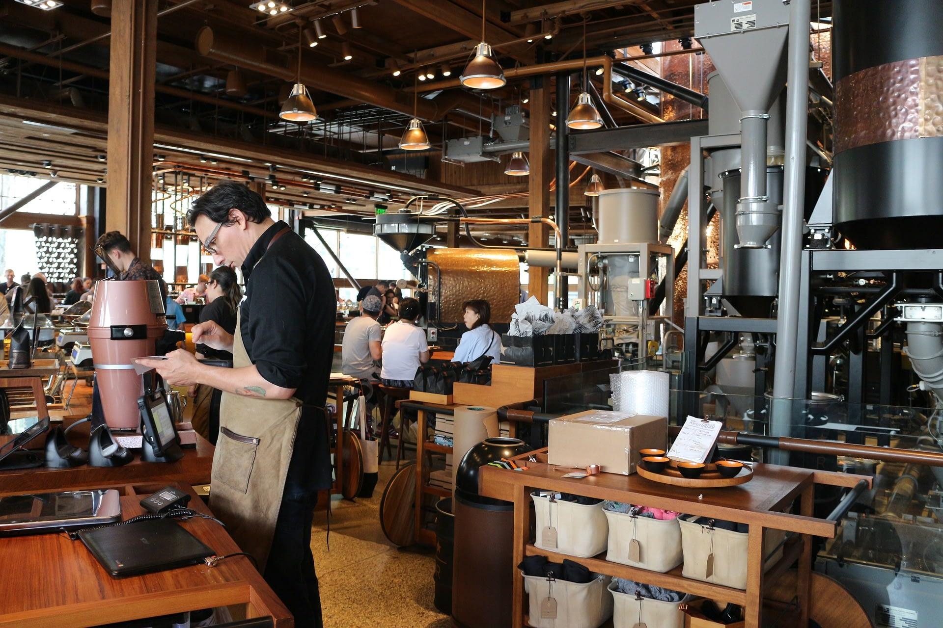 A Starbucks coffee house