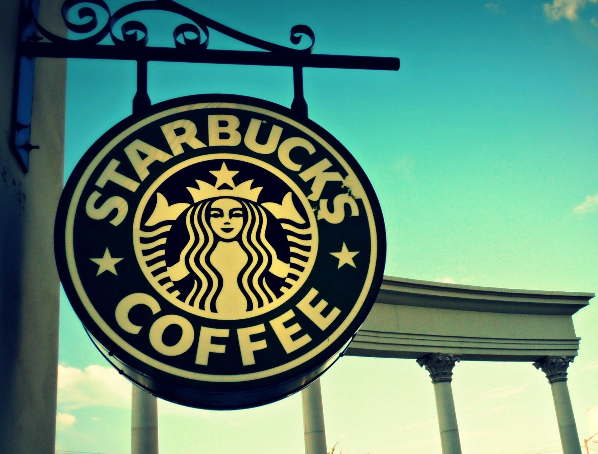 The logo of Starbucks